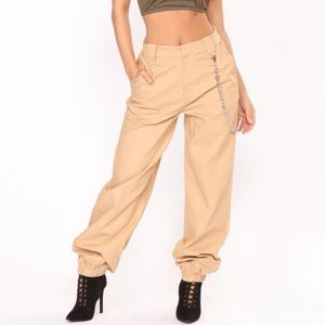 Fashion Nova Chained To Your Love Joggers - Khaki